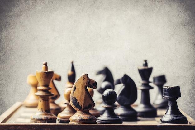 Schachbrett und schachspiel