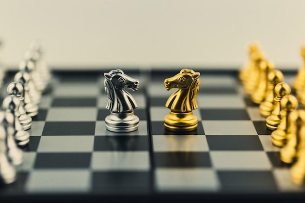Schachbrettspiel strategie, planungs- und entscheidungskonzept, geschäftslösungen für den erfolg.