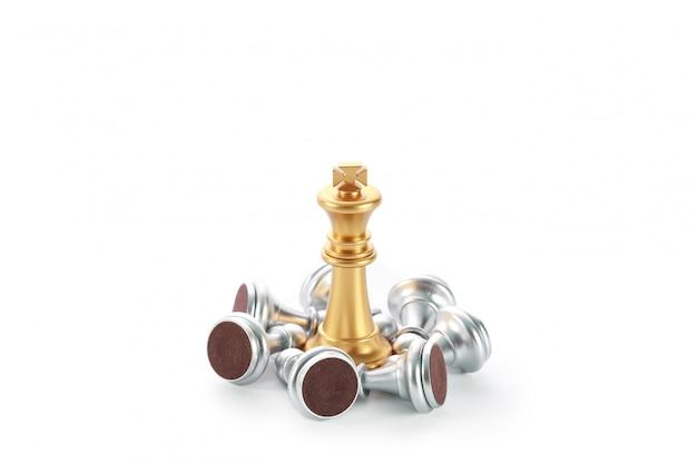 Schachbrettspielidee der managementstrategie