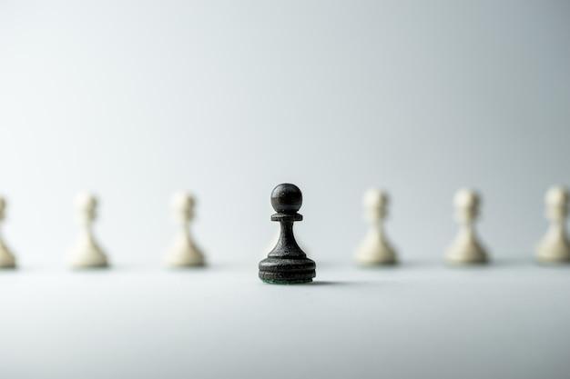 Schachfigur, geschäftsstrategie, führung, team und erfolg