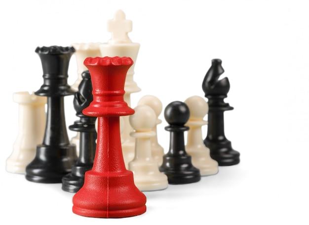 Schachfigur lokalisiert auf dem weißen hintergrund