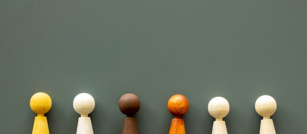 Schachfiguren mit kopierraum