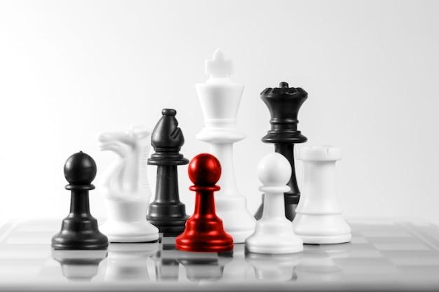 Schachgeschäftskonzept, führer u. erfolg