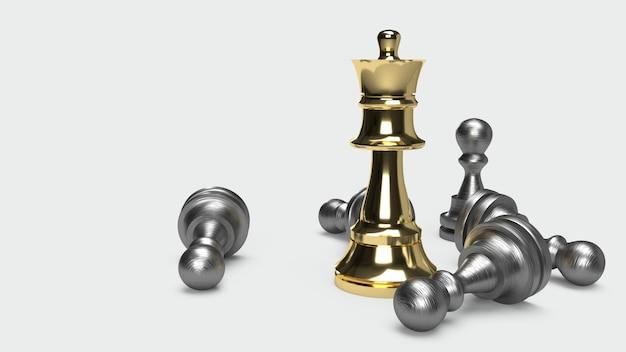 Schachspiel 3d, das abstrakte idee für geschäftsinhalt überträgt.