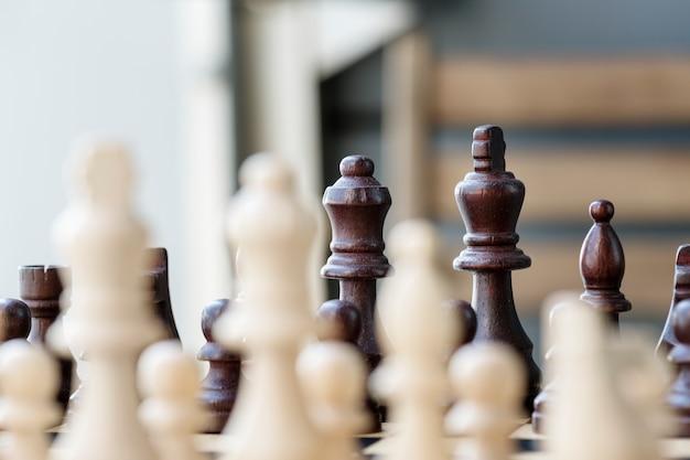 Schachspiel-geschäftsstrategiekonzept