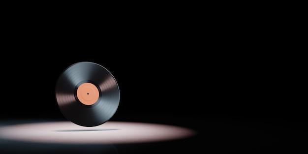Schallplatte im scheinwerferlicht isoliert