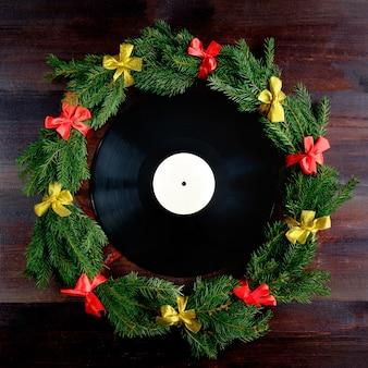 Schallplatte im weihnachtsstil