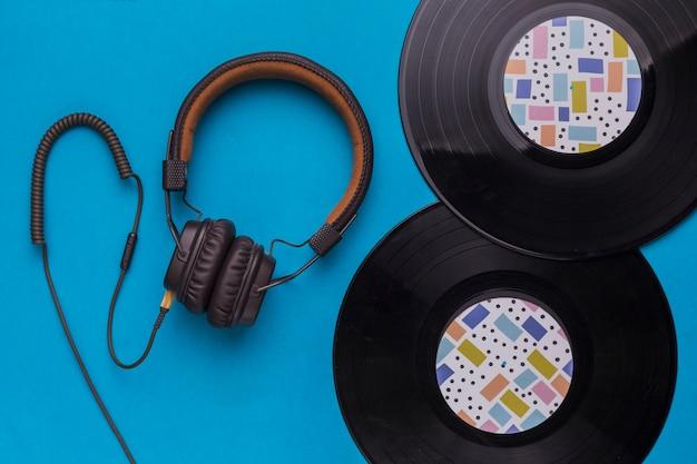 Schallplatten mit kopfhörer