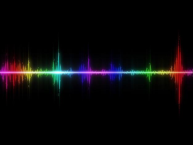 Schallwellen bunter abstrakter hintergrund