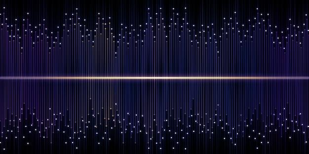 Schallwellenentzerrer dj 3d illustration funkeln licht