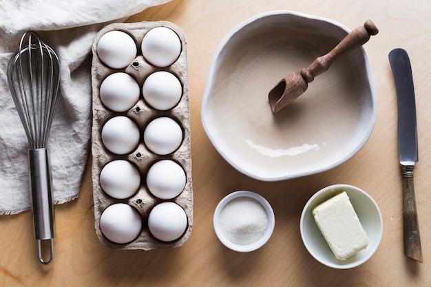 Schalung mit eiern zum kochen