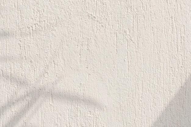 Schatten von blättern an einer betonwand