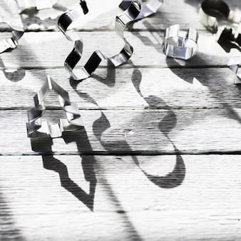Schatten von formen für plätzchen