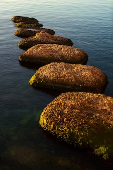 Schaukeln sie auf dem meer, syrakus