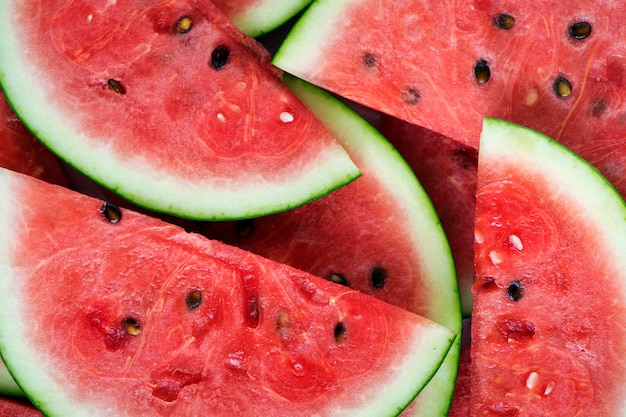 Scheiben der saftigen roten wassermelone