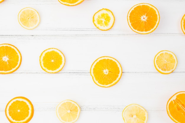Scheiben frische orange