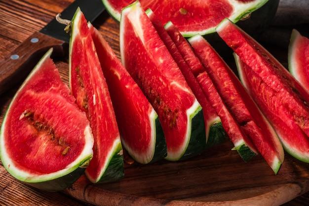 Scheiben reifer wassermelone