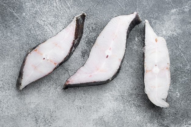 Scheiben vom weißfisch-meeresfrüchtemarkt