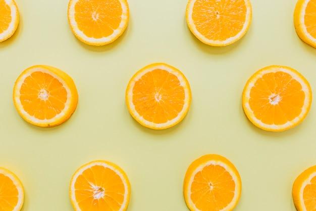 Scheiben von orangen komposition