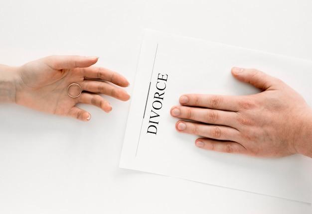 Scheidungsvereinbarung für paare