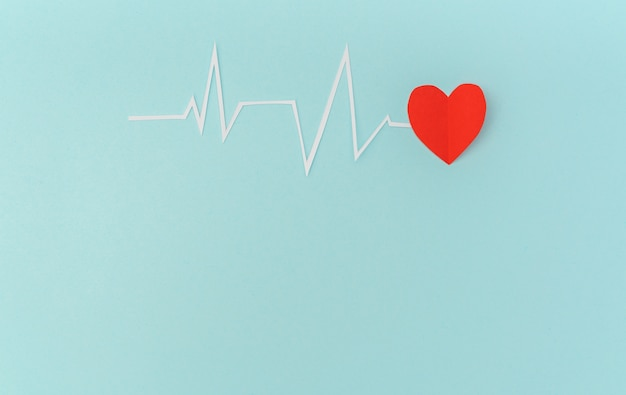 Scherenschnitt von kardiogramm herzrhythmus für valentinstag.