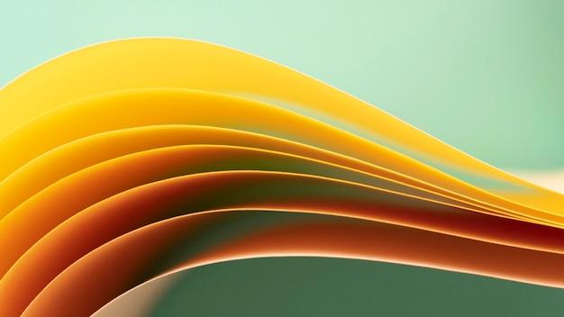 Schichten von gelb gefärbten papieren