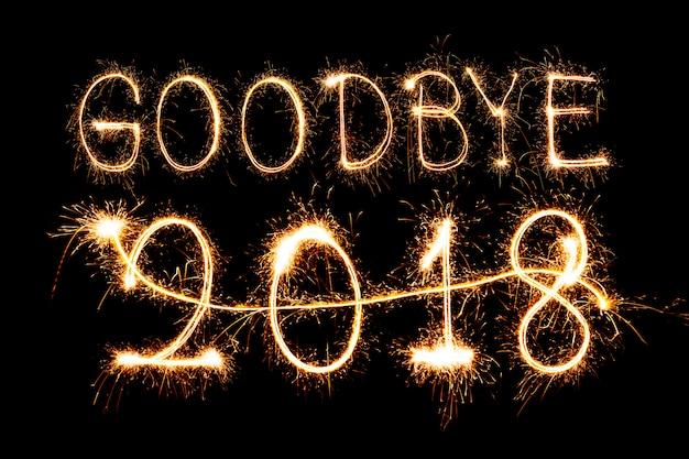 Schicke 2018 ab, willkommen 2019 feuerwerk