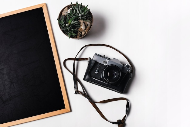 Schiefer und kamera