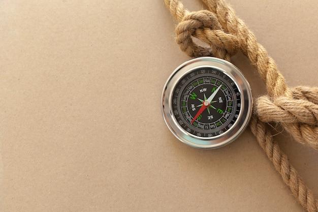 Schiffsseile und kompass hintergrund