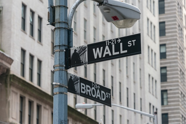 Schild an der wall street