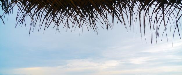Schilf baldachin am strand.