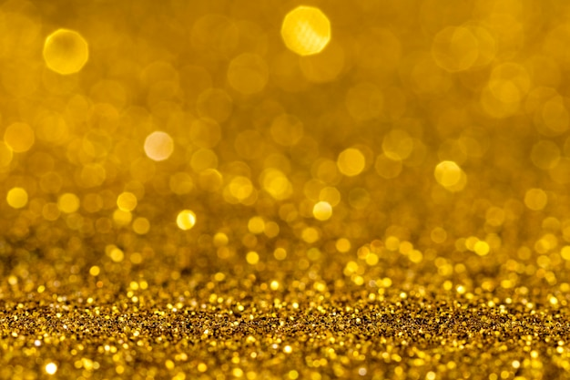 Schillernder goldglitter