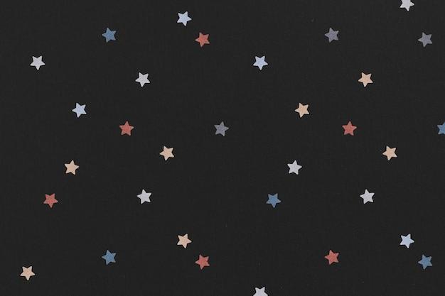Schimmernder bunter stern gemustert