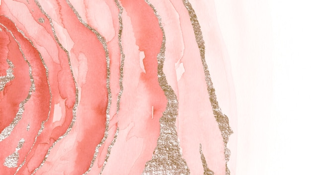 Schimmernder rosa aquarellpinselhintergrund
