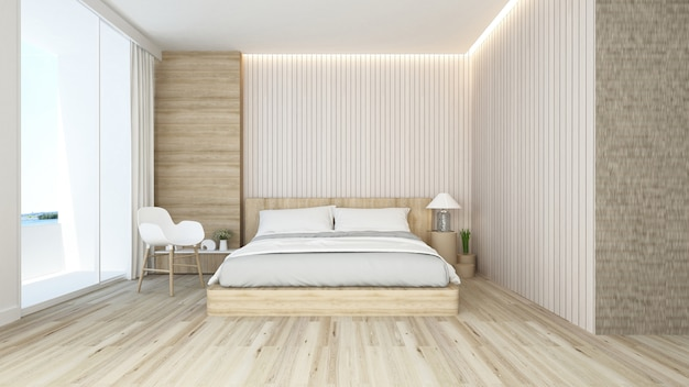 Schlaf- und wohnbereich im hotel oder appartement