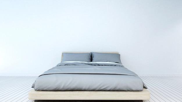 Schlafzimmer im haus oder in der wohnung - wiedergabe 3d