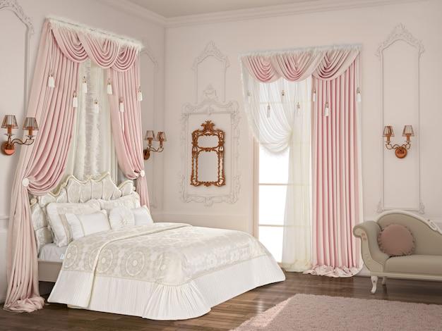 Schlafzimmer mit dekoration