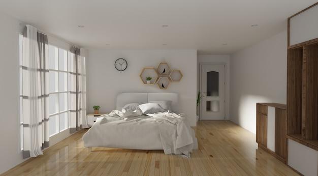 Schlafzimmer und moderner loft-stil