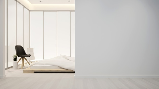 Schlafzimmer und wohnbereich im hotel oder in der wohnung - innenarchitektur