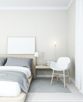 Schlafzimmerraum - 3d wiedergabe