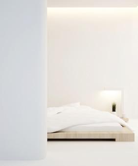 Schlafzimmerwohnung oder haus, innenraum, wiedergabe 3d