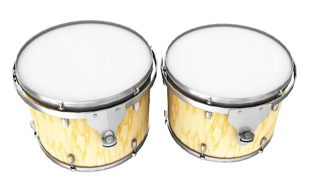 Schlagzeug. 3d-darstellung auf weißem hintergrund