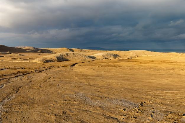 Schlammvulkane von gobustan, aserbaidschan