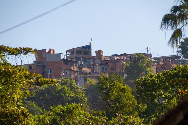 Schlauchhügelhäuser in rio de janeiro brasilien