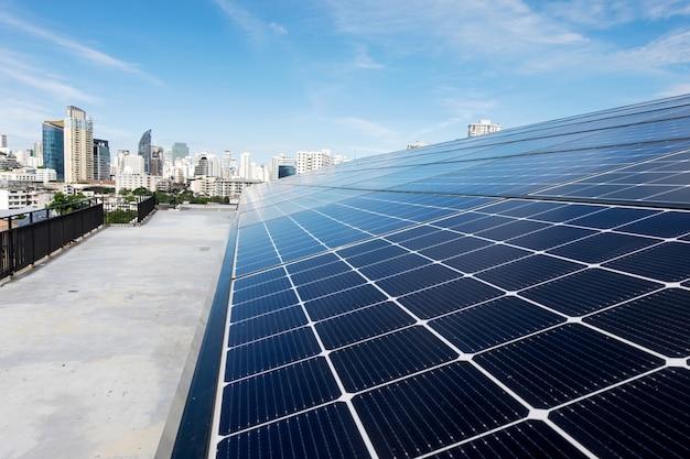 Schließen sie das solardach