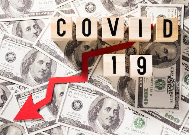 Schließen sie die covid-19-finanzkrise