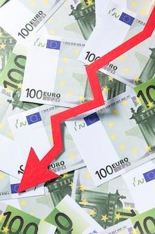 Schließen sie die wirtschaftskrise mit euro ab