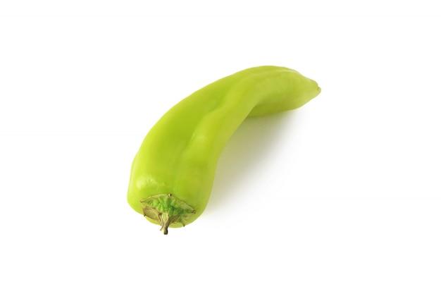 Schließen sie herauf ansicht von grünen pfeffer des heißen paprikas