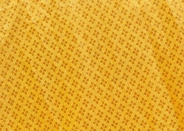 Schließen sie herauf beschaffenheit der gelben robe