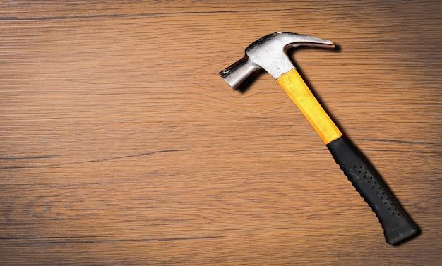 Schließen sie herauf draufsicht des hammers